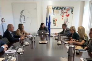 Mε τον υπουργό Παιδείαςτης Κύπρου συναντήθηκε η πολιτική ηγεσία του υπ. Παιδείας