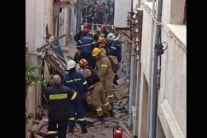 Σεισμός Σάμου: Βίντεο από το σημείο που καταπλακώθηκαν οι δύο μαθητές